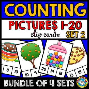COUNTING PICTURES CENTERS 1-20 (PRE K + KINDERGARTEN COUNT
