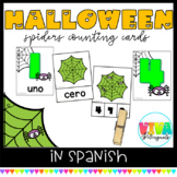 COUNTING SPIDERS CLIP CARDS 0-10