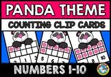 COUNTING/ SUBITIZING ACTIVITIES: PANDA MATH CENTER: TEN FR