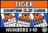 COUNTING/ SUBITIZING ACTIVITIES: TIGER MATH CENTER: TEN FRAMES CLIP CARDS