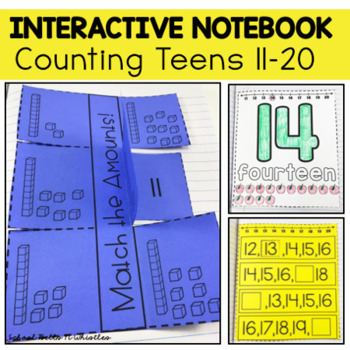 COUNTING TEENS INTERACTIVE NOTEBOOK