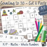 COUNTING TO 30 Cut and Paste Number Chart Worksheets