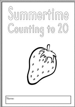 {COUNTING TO 20} {counting for kinder} {number books 1-20}