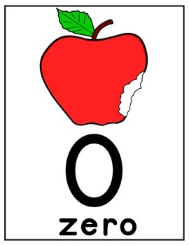 COUNTING WITH APPLES AND WORMS FLASH CARDS