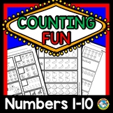 COUNTING OBJECTS PICTURES SETS WORKSHEETS NUMBERS 1 TO 10 PRESCHOOL KINDERGARTEN