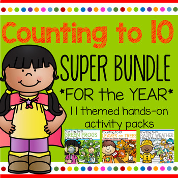COUNTING to 10 BUNDLE - 11 Activity Packs for the Year - 7 Ways to Show Numbers