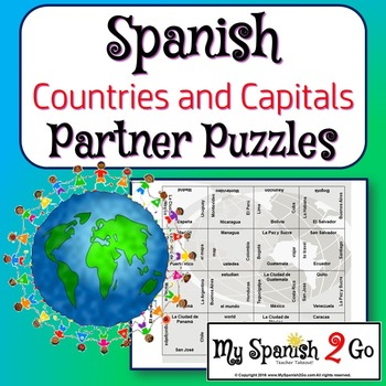 PARTNER PUZZLES:  SPANISH-SPEAKING COUNTRIES AND CAPITALS