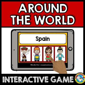 COUNTRIES AROUND THE WORLD ACTIVITIES BOOM CARDS VOCABULARY