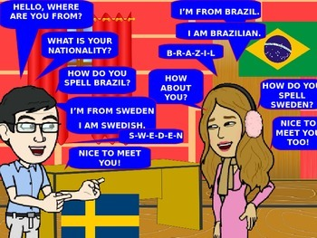 COUNTRIES and NATIONALITIES, Animated PPt Game, PPT Games