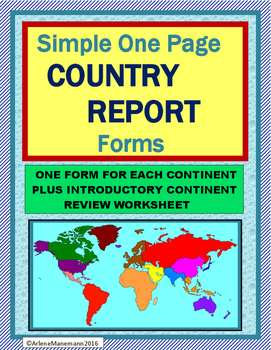 COUNTRY REPORT One Page Research Format
