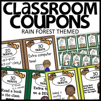 COUPONS CLASSROOM INCENTIVES (RAIN FOREST)
