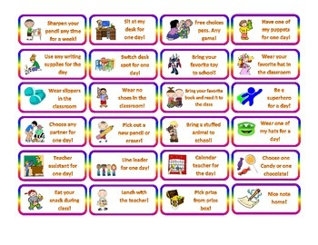 COUPONS FOR CLASSROOM MANAGMENT