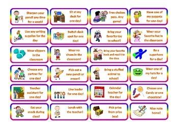 COUPONS FOR CLASSROOM MANAGEMENT - Behavior Reward System