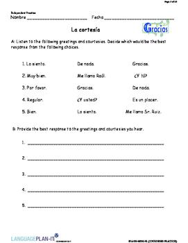 COURTESIES PRACTICE (SPANISH 2017 EDITION)