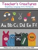 COVER for Teacher's Creatures Beginning Language Arts Workbook