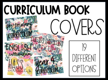 COVERS FOR CURRICULUM BOOKLET