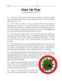 COVID-19 Coronavirus Reading Passage - Have No Fear