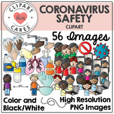 COVID-19 Coronavirus Clipart (Safety) by Clipart That Cares