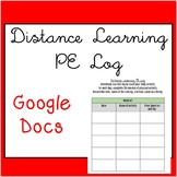Distance Learning Weekly PE Tracking Log Google Doc