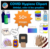 COVID - 19 Hygiene Clipart (for safe social distancing)