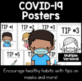COVID-19 Posters | Tips for Masks & Healthy Habits