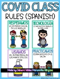 COVID 19 Safety Posters Class Rules Spanish