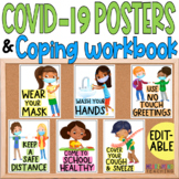 COVID 19 Safety Posters & Coping Workbook for Google Classroom