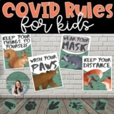 COVID 19 Safety Posters, Floor Markers, and Editable Googl