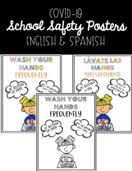 COVID-19 School Safety Posters   English and Spanish