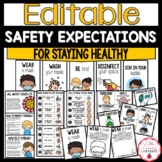 COVID-19 Safety Expectations for In Person School & Distance Learning | EDITABLE
