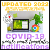 COVID - Email Notification Wording Bundle