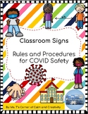 COVID Rules & Procedures: Classroom Signs
