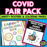 COVID Safety Posters and Coloring Pages PAIR PACK