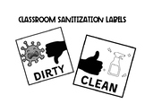 COVID Sanitization Labels (For black & white printing)