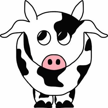 COW CLIPART - DIGITAL IMAGE