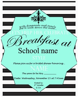 COWORKER BREAKFAST BRIDAL SHOWER INVITATION