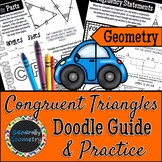 CPCTC Congruent Triangles Doodle Notes & Practice Worksheet; Geometry