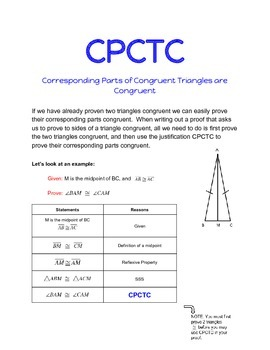 CPCTC for Proofs