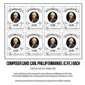 CPE Bach Composer Trading Card