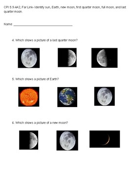 CPI 5.9.4A2, Far Link- Identify sun, Earth, and moon phases