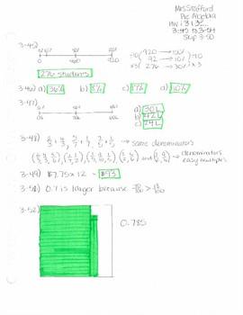 CPM CC1 Chapter 3 Homework Answer Keys