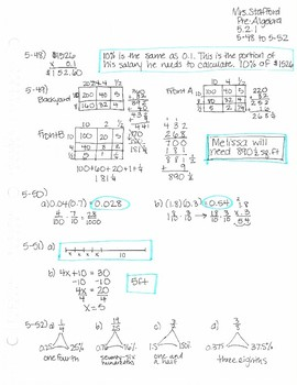 CPM CC1 Chapter 5 Homework Answer Keys