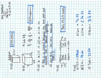 CPM CC1 Chapter 9 Homework Answer Keys by Mrs Stafford's ...