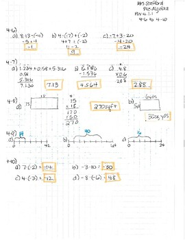 CPM CC2 Chapter 4 HW Answer Keys