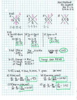 CPM CC2 Chapter 8 HW Answer Keys