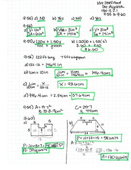 CPM CC2 Chapter 9 HW Answer Keys