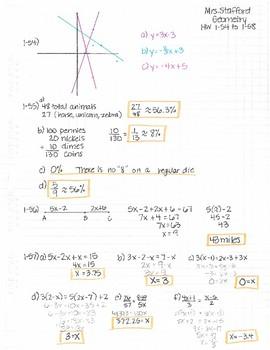 CPM CCG Geometry Chapter 1 Homework Answer Keys by Mrs ...