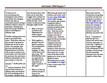 CPM 6th Grade Core Connections (Chapter 7)