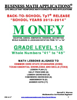 CPM: GRADE LEVEL 1 to 3_WHOLE NUMBER OPERATIONS_41 to 45
