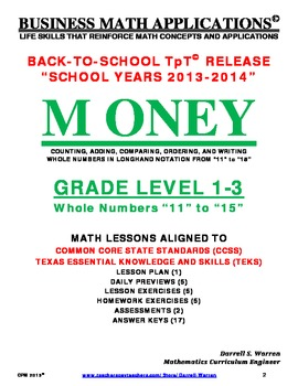 CPM: GRADE LEVEL 1 to 3_WHOLE NUMBER OPERATIONS_11 to 15